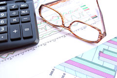 Biznes i zapas części raporty Obrazy Stock