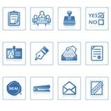 biznes ikony ii urzędu Zdjęcie Stock