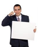 biznes kartonowy biały człowiek Fotografia Royalty Free