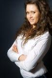 biznes kobieta zadowolona szczęśliwa jeden Fotografia Stock
