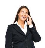 biznes komórka mówi kobiety Zdjęcie Royalty Free