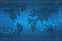 biznes kontynentu wykres Zdjęcia Stock