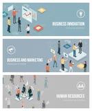 Biznes, marketing i działy zasobów ludzkich, ilustracja wektor