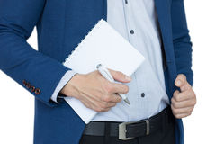 Biznes notatka, pisze, pisze, Obrazy Stock