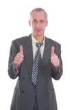biznes odizolowywający mężczyzna thums odizolowywać Zdjęcie Stock