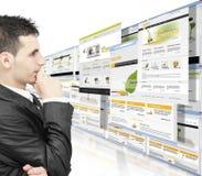 biznes online Obrazy Royalty Free