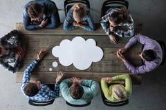 Biznes opinii dialog chmura Obrazy Stock