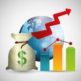 Biznes, pieniądze i globalna gospodarka, Fotografia Royalty Free