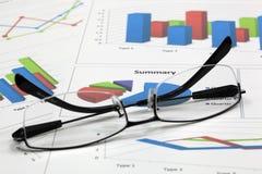 Biznes pieniężna analiza zdjęcie royalty free