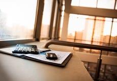 Biznes pieniężna analiza miejsce pracy Zdjęcia Stock