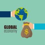 Biznes, pieniądze i globalna gospodarka, Obraz Royalty Free