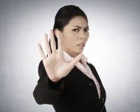 biznes powiedzenie żadna kobieta fotografia stock
