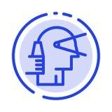 Biznes, Przedni, lider, ścieżka, dostawca linii linii błękit Kropkująca ikona ilustracji