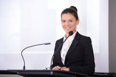 biznes przewodniczy konferencyjnego biurko odizolowywającego nad biel Fotografia Stock