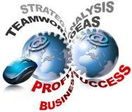 biznes przygotowywa świat Ilustracja Wektor