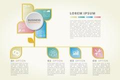 Biznes r up, obieg, badanie, linia czasu, infographic Obrazy Stock