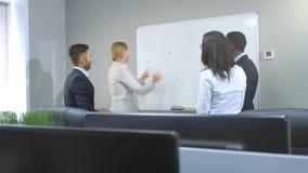 Biznes, rozpoczęcie, planowanie i ludzie pojęć, zdjęcie wideo