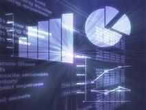 biznes sporządzać mapę ilustracyjnego spreadsheet Obrazy Stock