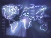 biznes sporządzać mapę spreadsheet Obrazy Royalty Free