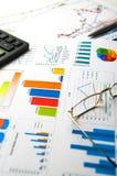 biznes sporządzać mapę wykresów przyrost wzrastających zysków tempa zdjęcie royalty free