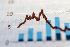 biznes sporz?dza? map? wykres?w przyrost wzrastaj?cych zysk?w tempa Makro- obraz royalty free