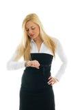 biznes sprawdzać czas kobiety Zdjęcie Stock