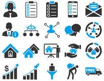 Biznes, sprzedaże, nieruchomości ikony set Obraz Royalty Free