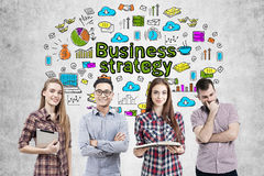 Biznes strategii biznesowej i drużyny ikony Obrazy Stock