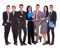 Biznes szczęśliwa pomyślna drużyna Zdjęcie Stock
