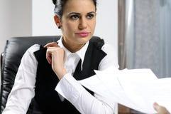 biznes target112_0_ poważnej kobiety Fotografia Royalty Free
