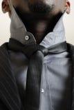 biznes target294_1_ mężczyzna jego krawat Zdjęcia Royalty Free