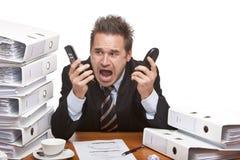 biznes udaremniam mężczyzna target1800_0_ stresuję się obraz stock