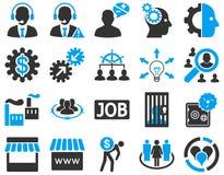 Biznes, usługa, zarządzanie ikony Obraz Royalty Free