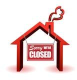 biznes zamykał re zmartwionego szyldowy ilustracja wektor