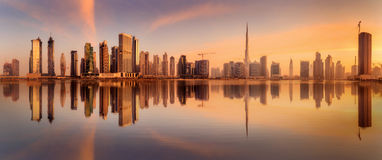 Biznes zatoka Dubaj, UAE Zdjęcia Stock