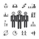 Biznes zespala się anagement ikony Obrazy Royalty Free