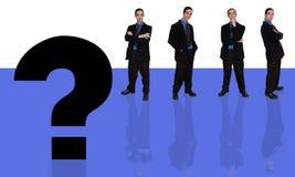 biznesmenów 6 pytanie royalty ilustracja