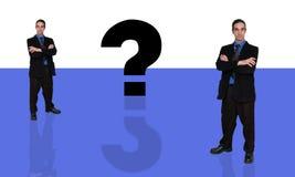 biznesmenów 9 pytanie royalty ilustracja
