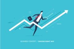 Biznesmenów bieg naprzód sukces sporządzać mapę wzrostowego sukces Sukces, tempa Zdjęcie Royalty Free