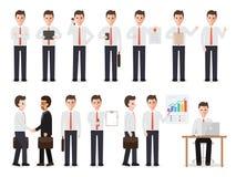 Biznesmenów charaktery ilustracja wektor