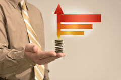 Biznesmenów chwytów znak Zdjęcia Stock