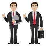 Biznesmenów chwyty dotykają up Fotografia Stock