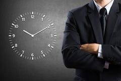 Biznesmenów czasy i pozycja Obraz Stock