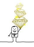 biznesmenów diamenty ilustracji