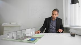Biznesmenów druki futurystycznym cyber realty, projekty i zbiory wideo