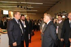 biznesmenów forum gubernatora Irkutsk dziennikarzi minimalny obraz stock