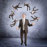 Biznesmenów kuglarscy karły zdjęcia royalty free