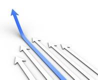 biznesmenów pojęcia wykres wynika sukces Obraz Stock