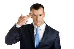 Biznesmenów przedstawień ręki pistoletu gest Fotografia Royalty Free