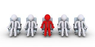 Biznesmenów stojaki z inny Fotografia Stock
